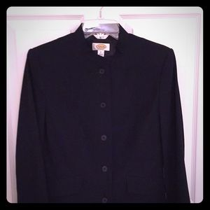 NWOT black blazer with Chinese collar